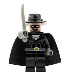 Zorro & Sword - Custom Designed Minifigure